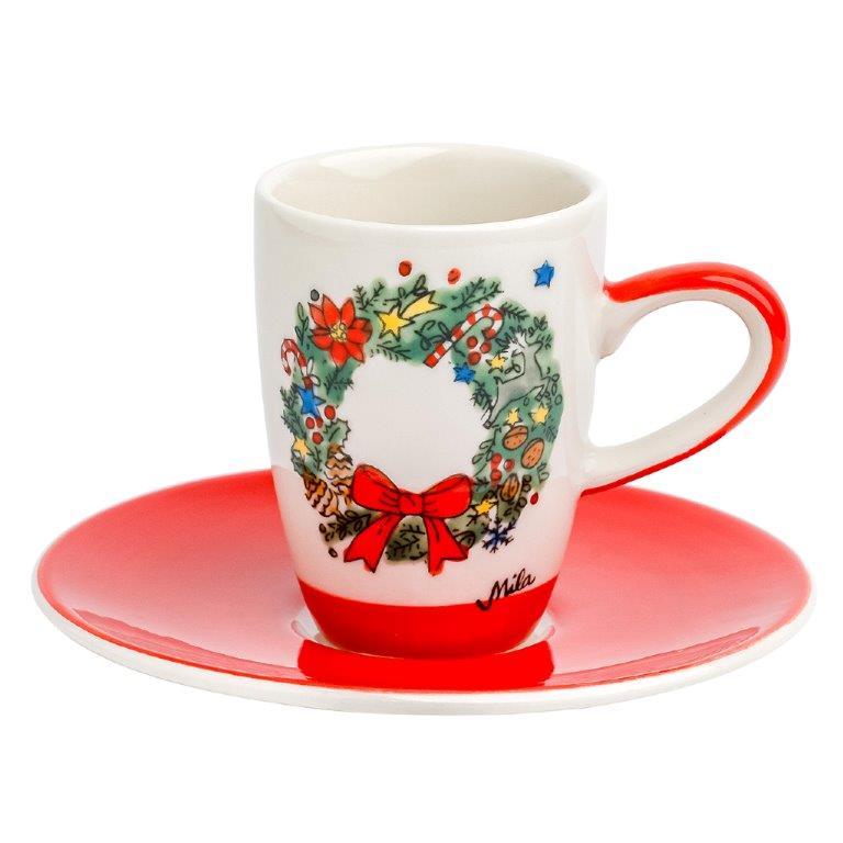 Espresso Tasse - Weihnachtskranz