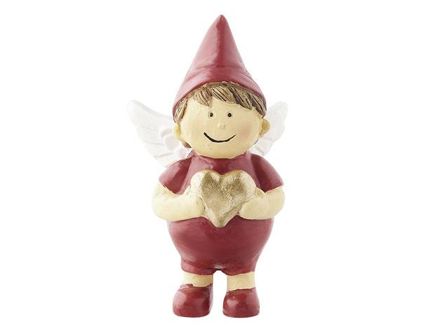 Resin Figur - Engel Raphael, stehend rot