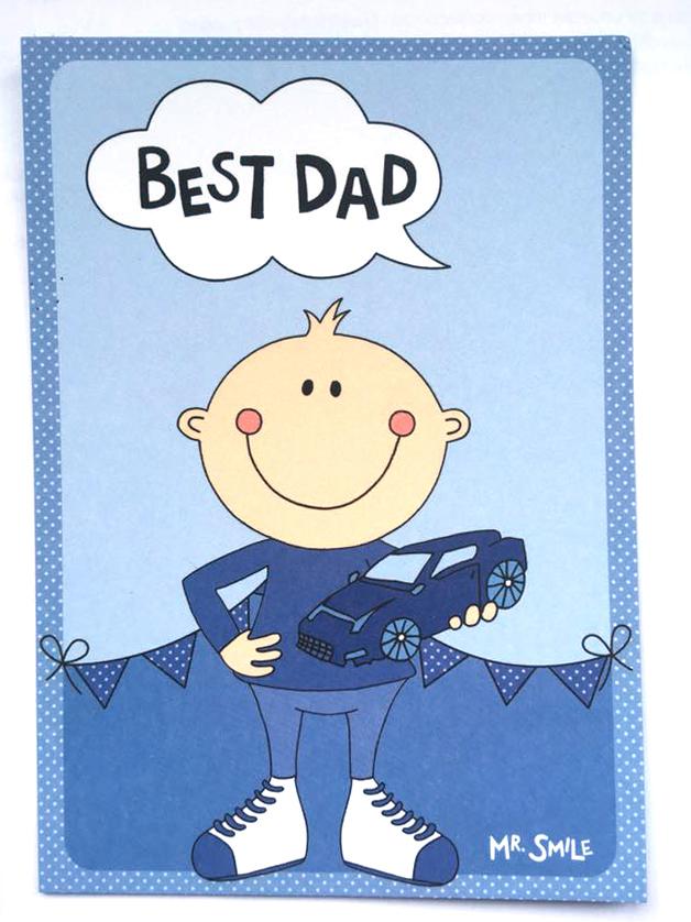 Postkarte - Mr. Smile Best Dad
