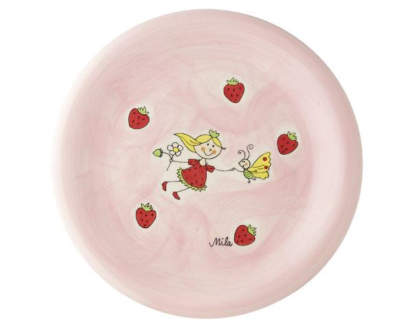 Teller - Erdbeerfee