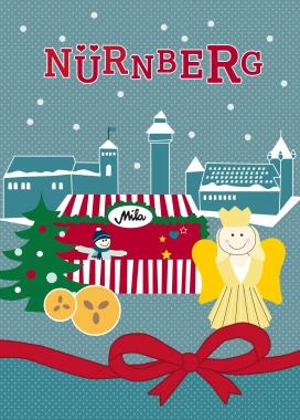 Postkarte - Christkindlesmarkt Nürnberg