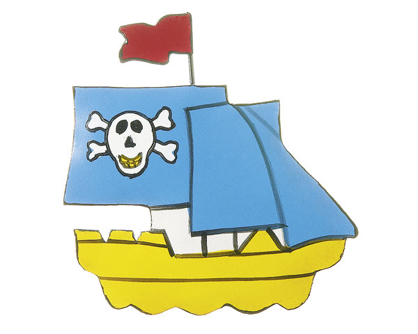 Magnet - Pirat Captain Jack Parrot, Piratenschiff