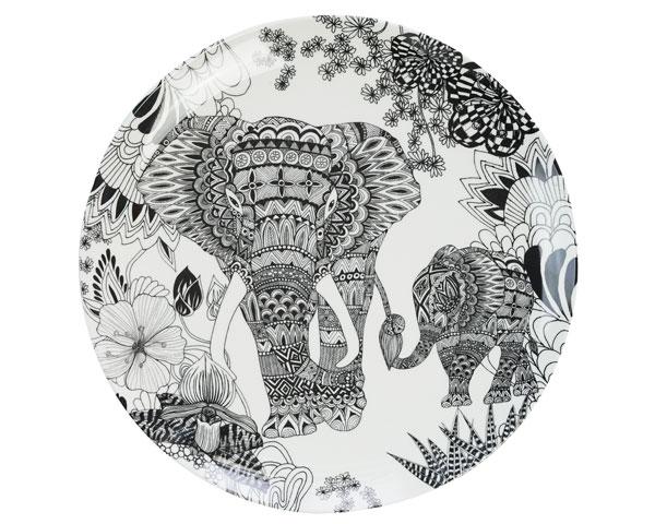 Ginger Melamin Teller - Elephant