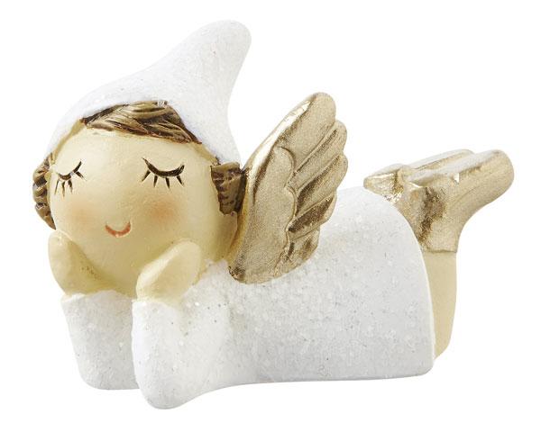Resin Figur -  Kleine Engelfee, liegend