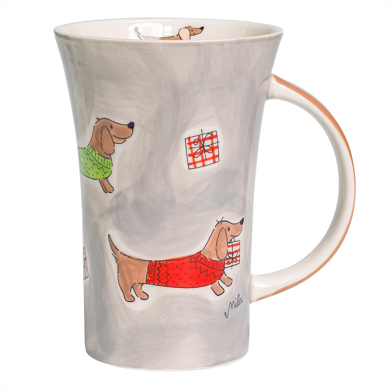 Coffee Pot - Dackel mit Geschenken