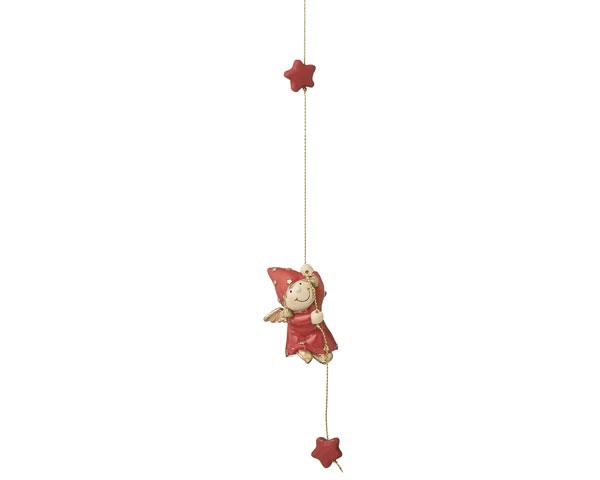 Resin Figur - Engel Emilia, kletternd
