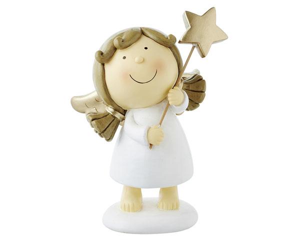 Resin Figur - Engel Sophia stehend, weiß 18 cm
