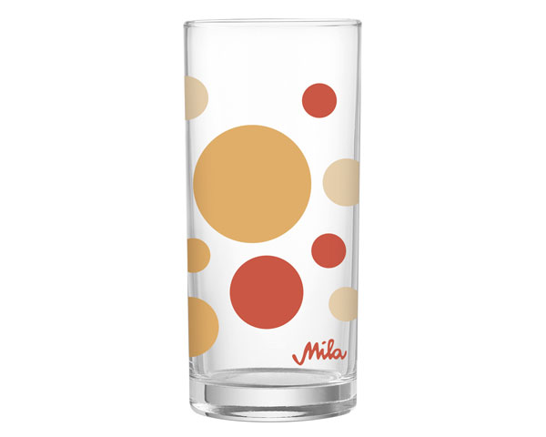 Glas - dots gelb/orange
