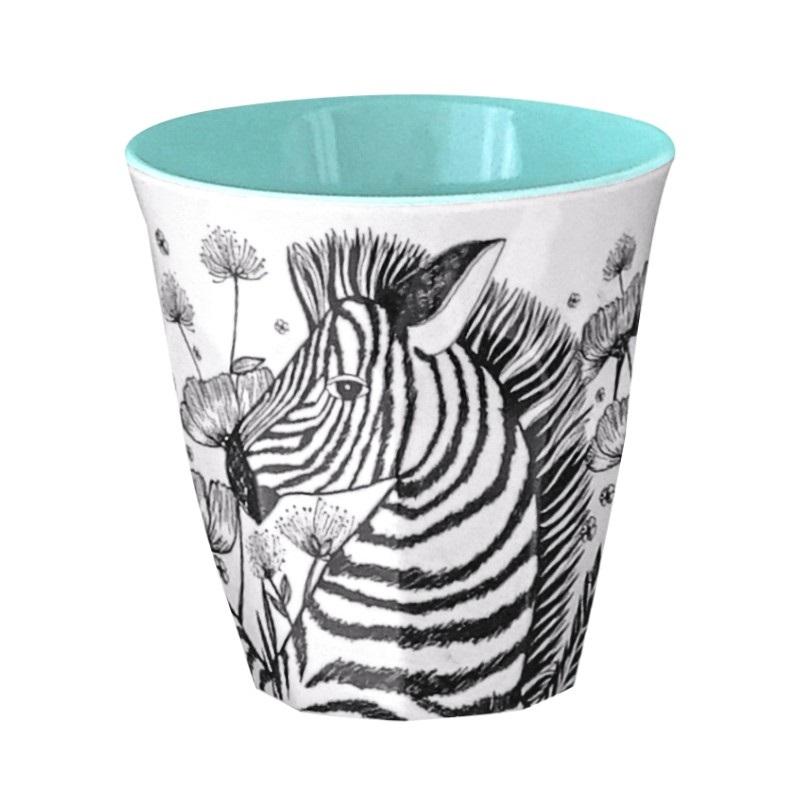 Ginger Melamin Becher - Zebra