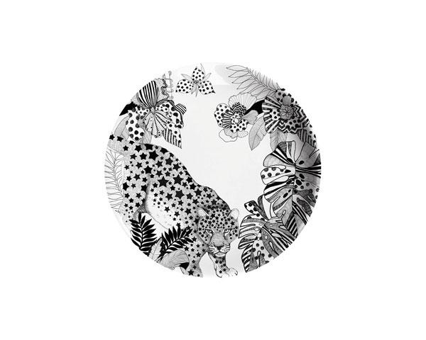 Ginger Melamin Teller - Leopard