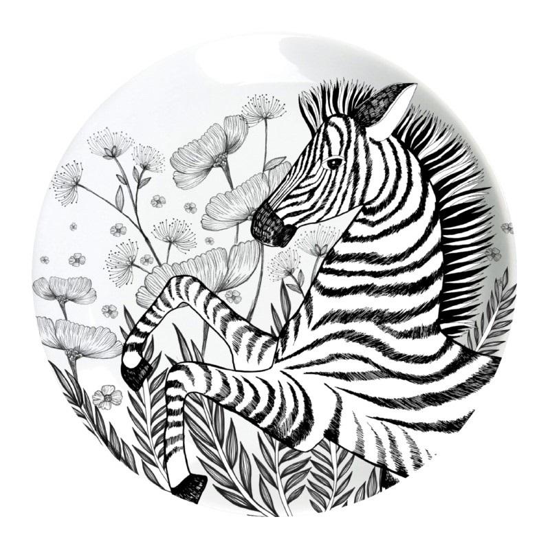Ginger Melamin Teller - Zebra