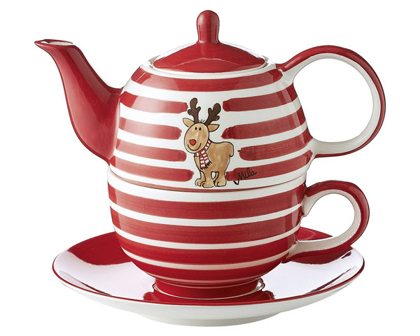 Tea for one- Elch Gustav mit Streifen