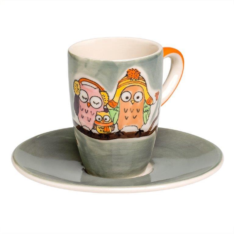 Espresso Tasse - Eulenfamilie Piepmatz