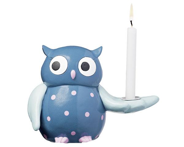 Kerzenhalter - Eule 12 cm