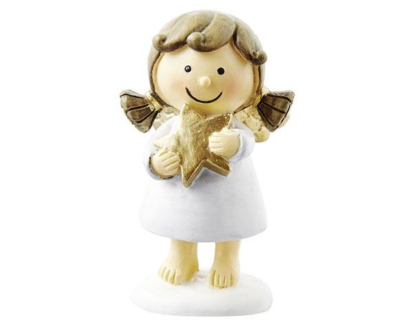 Resin Figur - Engel Sophia, stehend weiß