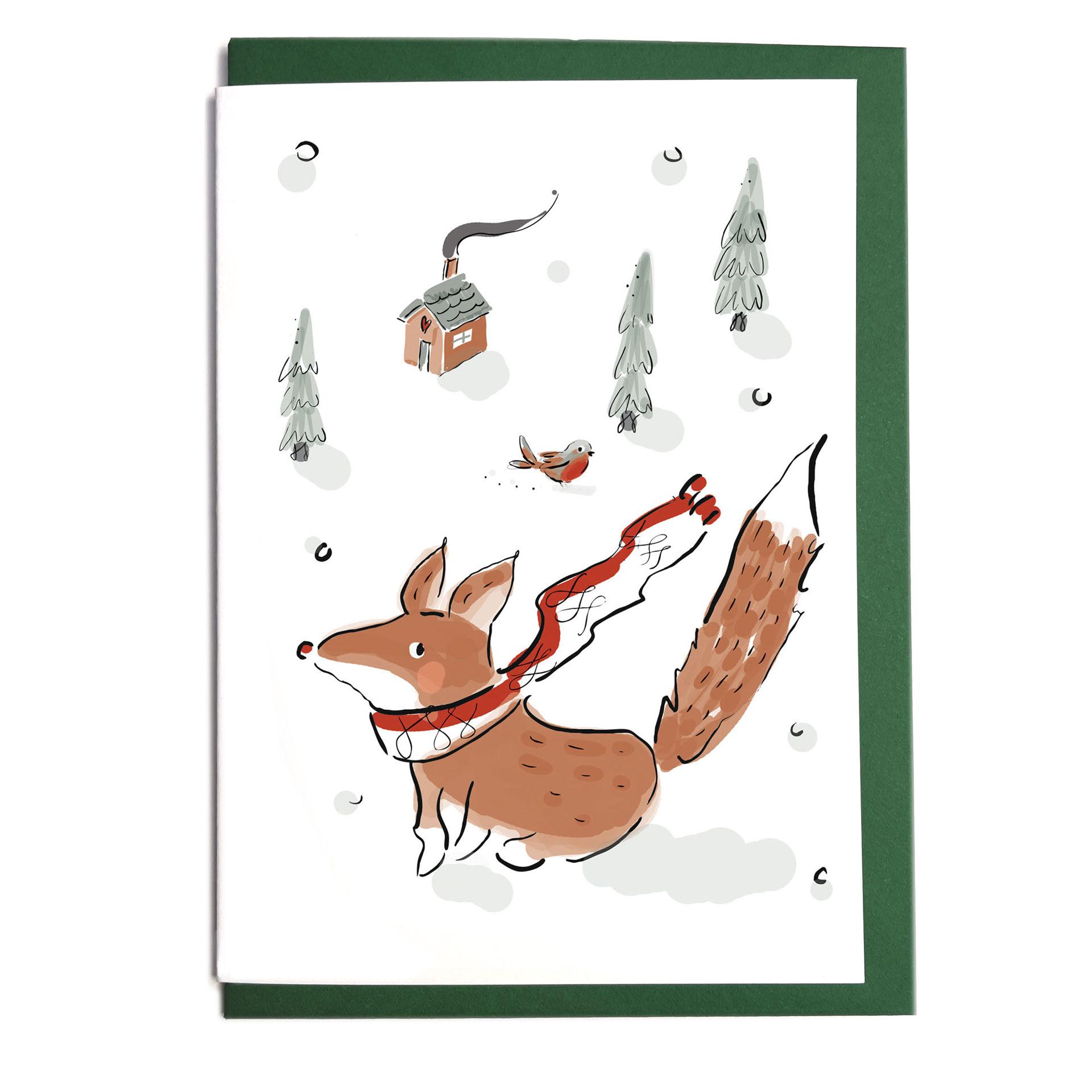 Grußkarte mit Umschlag - Magic Winter