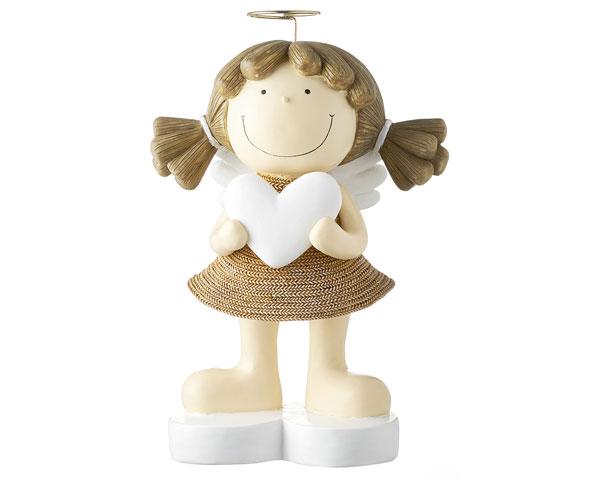 Resin Figur - Engel Fienchen XL, braun 32 cm