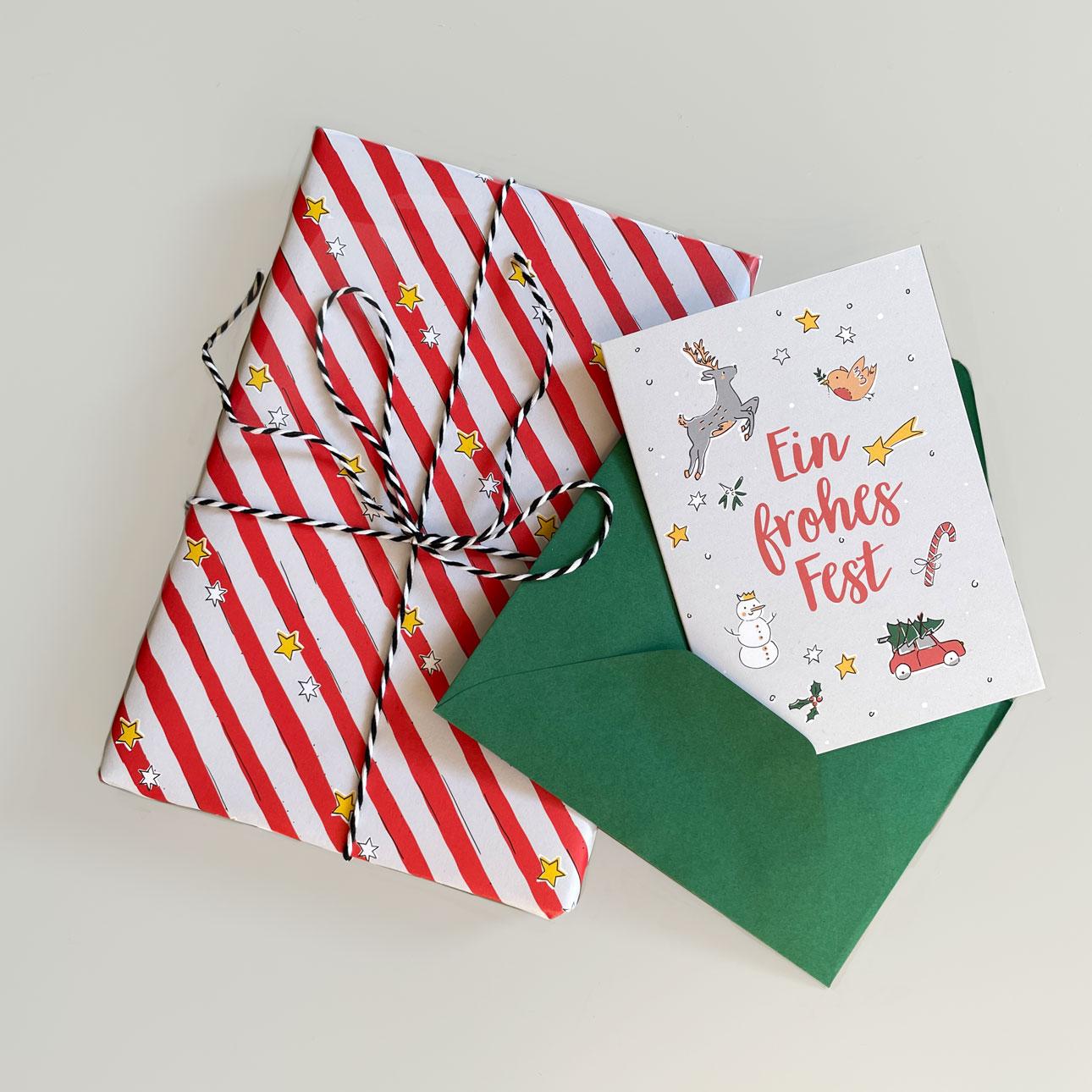 Geschenkpapier - Frohes Fest