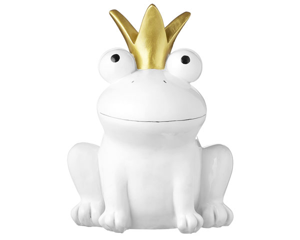 Figur - Froschkönig weiss