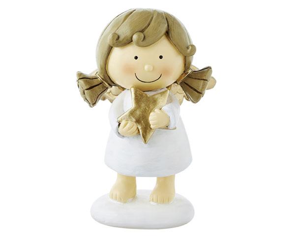 Resin Figur - Engel Sophia, stehend weiß 16 cm