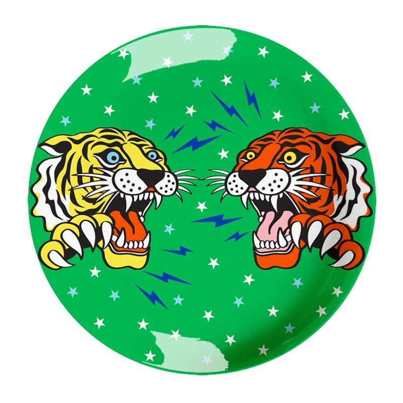 Ginger Melamin Teller - Tiger