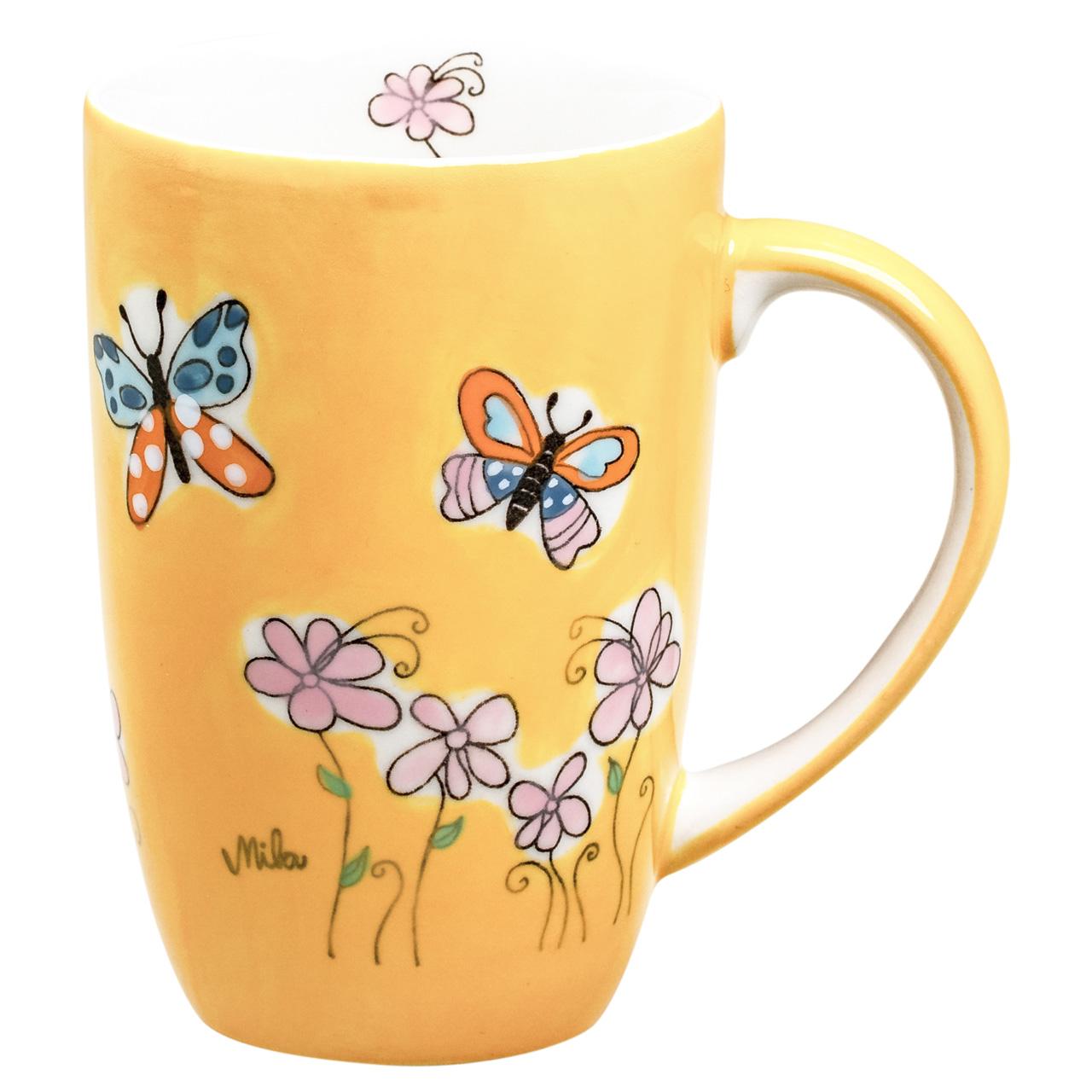 Designbecher - Schmetterlinge