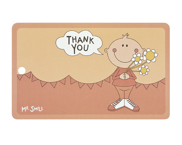 Frühstücksbrettchen - Mr. Smile Thank you