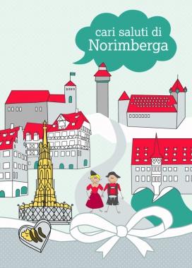 Postkarte - Nürnberg Italienisch
