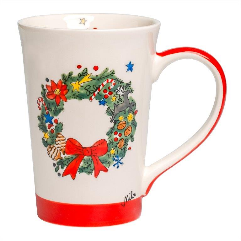 Teebecher - Weihnachtskranz
