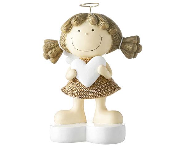 Resin Figur - Engel Fienchen, braun 18 cm