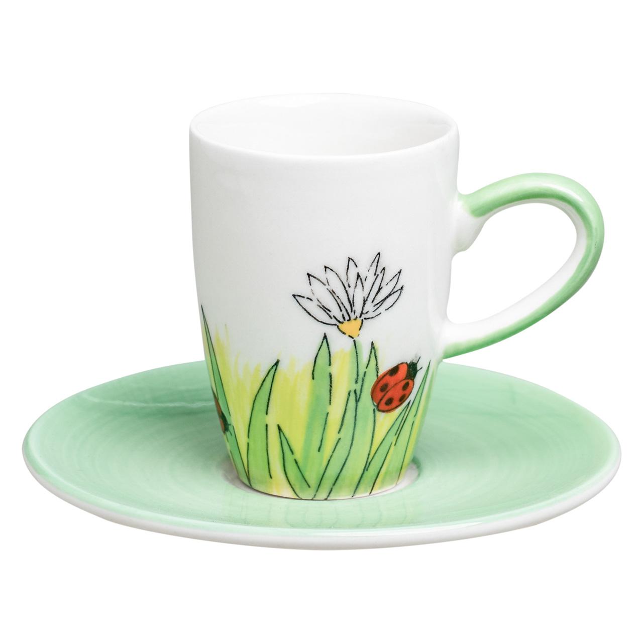 Espresso Tasse - Frühlingserwachen