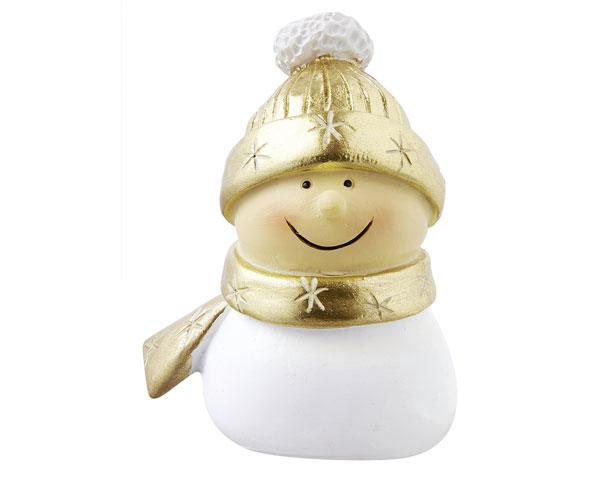 Resin Figur - Mr. Snowmann, gold