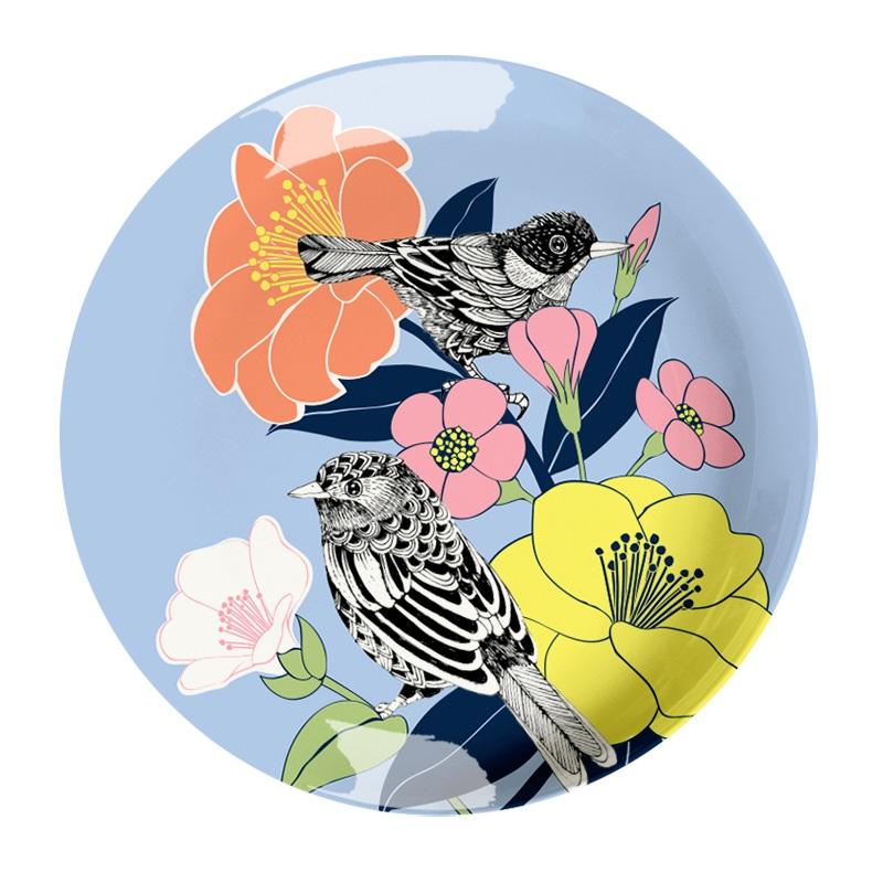 Ginger Melamin Teller - Flowerbird