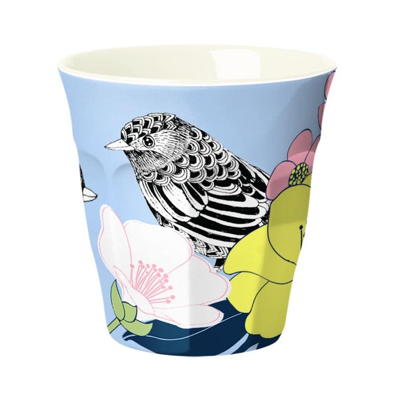 Ginger Melamin Becher - Flowerbird