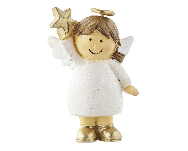 Resin Figur - Engel Nelli stehend, weiß
