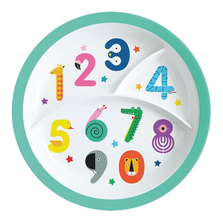 Melamin Kinterteller - Numbers, 3-geteilt