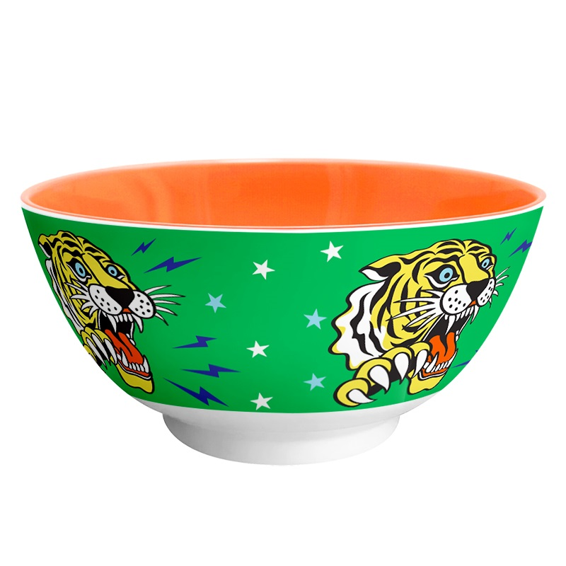 Ginger Melamin Schale - Tiger
