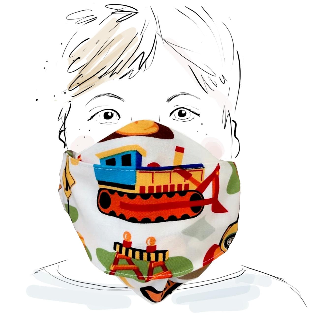 Kinder Schutzmaske - Baustelle (M)