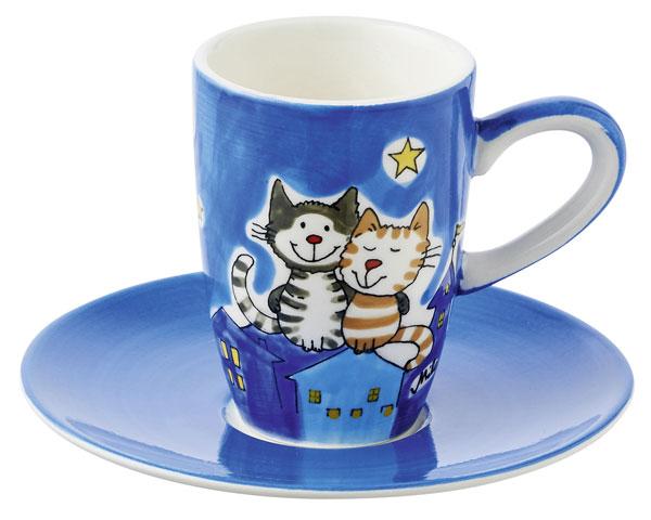 Espresso Tasse - Nachtkatzen