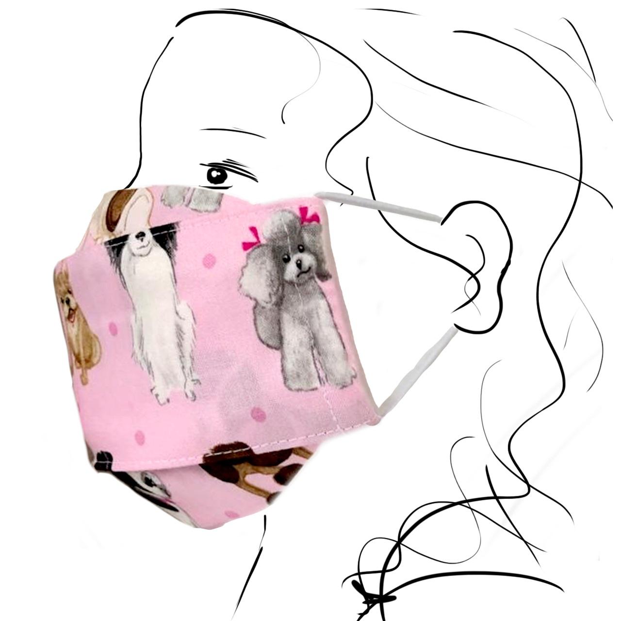 Kinder Schutzmaske - Süße Hunde (S)