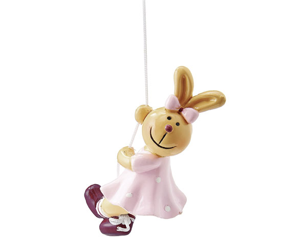 Figur - Hasen Pärchen, Mädchen kletternd