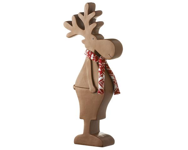 Resin Figur - Elch Bruno XXL, braun 39 cm