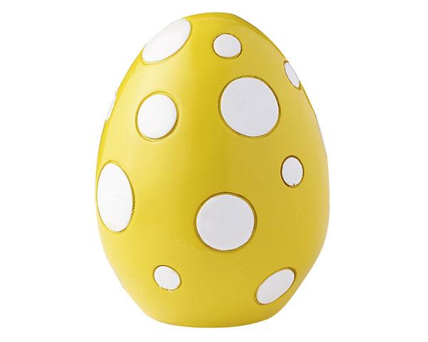 Figur - Osterei groß, gelb/weiß