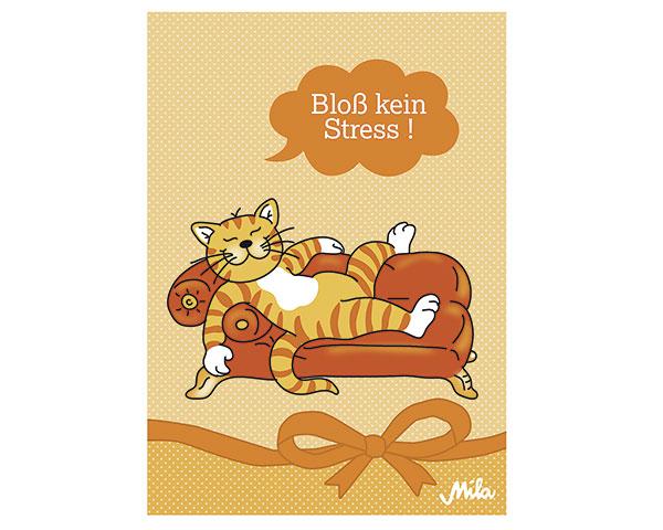 "Postkarte - Oommh ""Bloß kein Stress."""