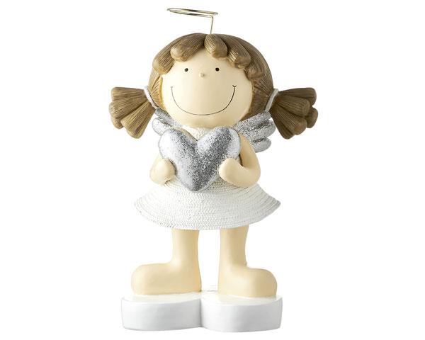 Resin Figur - Engel Fienchen XL, weiß 32 cm