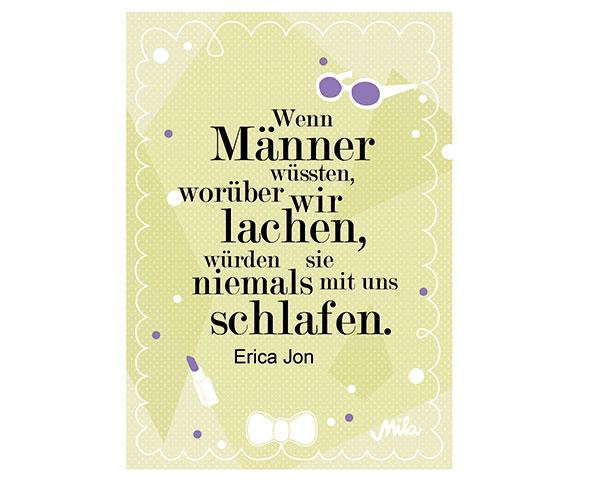 Postkarte - Wenn Männer wüssten, ...
