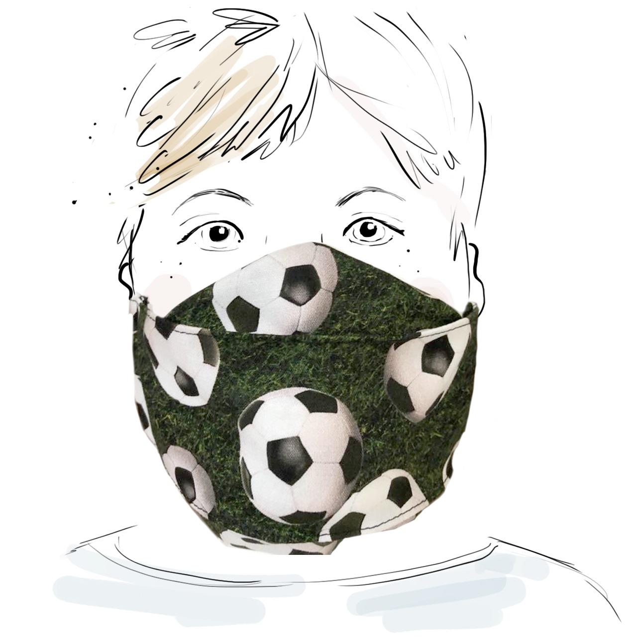 Kinder Schutzmaske - Fussball (S)