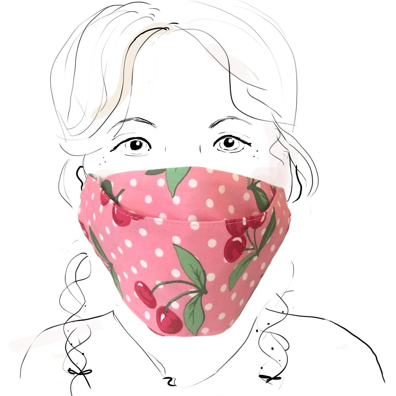 Kinder Schutzmaske - Kirschen (M)