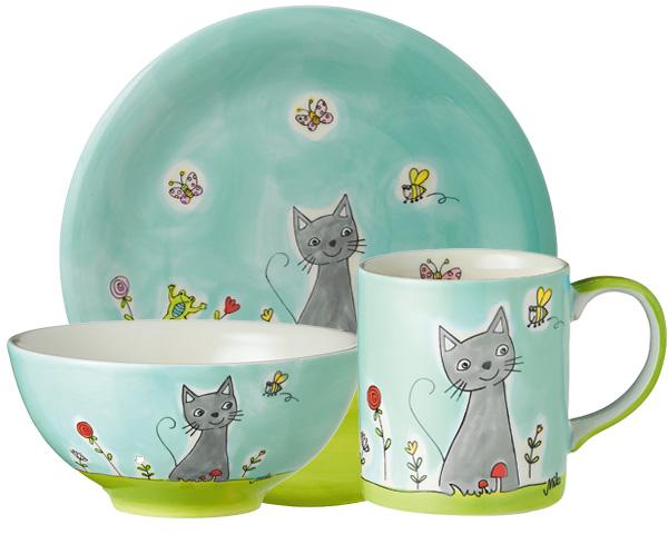Sammler Set - Katze in Blumenwiese
