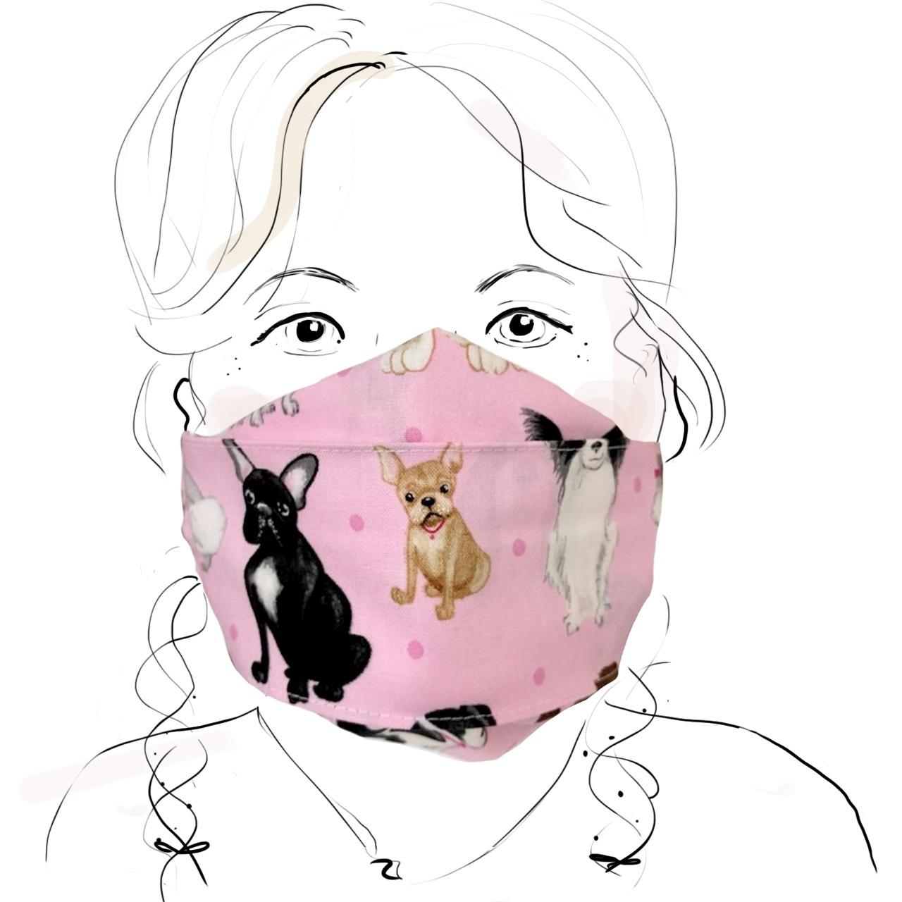 Kinder Schutzmaske - Süße Hunde (M)